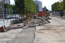 Ombyggnaden av Järnvägsgatan går över till östra sidan