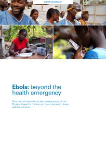 Ny rapport från Plan: Ebola är långt mer än en hälsofråga.