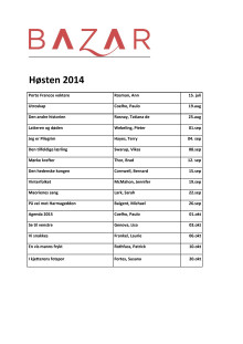 Oppdatert høstliste 2014  - Bazar Forlag