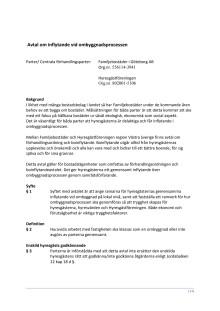 Avtal för inflytande vid ombyggnad