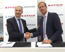 Satair Group and Safran Nacelles sign lifetime contract for supply chain services for A340-500/600 engine nacelle spare parts and components