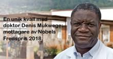 Fredspristagaren Denis Mukwege firas i Stockholm
