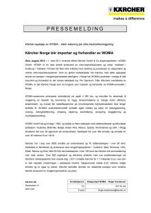 Pressemelding Kärcher kjøper WOMA - pdf