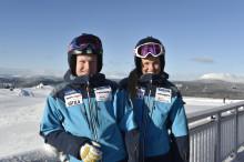 Anna och Victor laddar för dubbel på Idre Fjäll