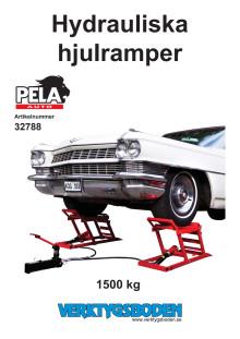 Hydrauliska hjulramper från Verktygsboden - manual