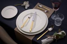 Séries de couverts haut-de-gamme en version argentée ou partiellement dorée : le luxe à votre portée