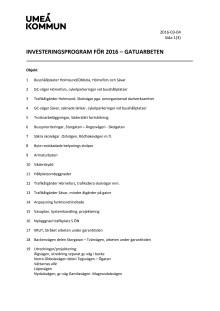 Gatuprogram 2016