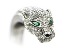 Highly Exclusive Panther Bangle at Auction