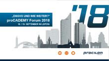 """procilon proCADEMY Forum 2018 """"DSGVO und wie weiter?"""""""
