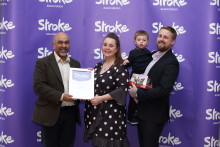Two year old Great Barr stroke survivor receives regional recognition