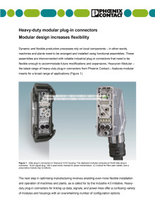 Heavy-duty modular plug-in connectors