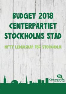 Centerpartiets budgetförslag 2018