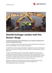 Rototilt forlenger avtalen med Pon Rental i Norge