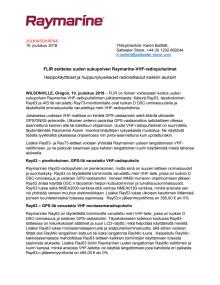 FLIR esittelee uuden sukupolven Raymarine-VHF-radiopuhelimet