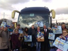 Coach visitor to Bury Market receives surprise hamper