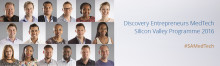 Discovery announces top entrepreneurs in its MedTech Silicon Valley Programme