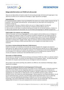Bakgrundsinformation om PCSK9 och alirocumab