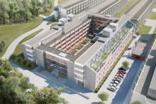 Strängbetong levererar betongstommen åt Akademiska Hus nybygge på Stockholms universitet