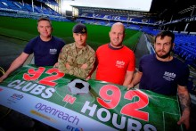 No sleep 'til Anfield - Ex-military football fans drive to 92 football grounds in 92 hours to raise money for armed forces charity