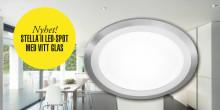 Nyhet! Stella LED-spot generation II med vitt glas