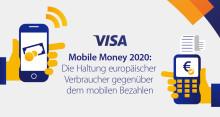 Visa Prognose: Deutsche werden 2020 rund 1,7 Milliarden Euro pro Woche mit mobilen Endgeräten bezahlen