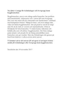 Avsiktsförklaring  mot kränkningar 30 nov 2017