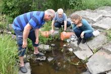 Ny kalkfilterbädd i Österåker minskar övergödning