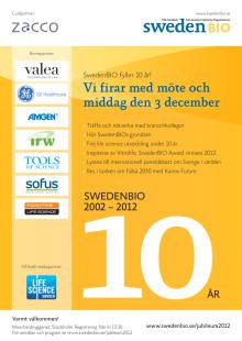 Välkommen till SwedenBIOs 10-årsjubileum Lite nostalgi och mycket framåtblickande!