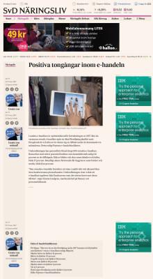 Positiva tongångar inom e-handeln