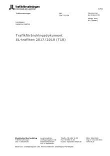 Förändringar i SL-trafiken från och med december 2017