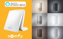 Somfy TaHoma® kan nu röststyras med Amazon Alexa