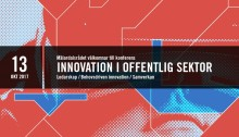 Pressinbjudan: Välkommen till konferens om innovation i offentlig sektor