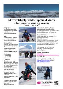 Aktivitetshjelpemiddelopphold - vinter for unge voksne og voksne
