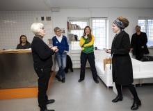 Kulturminister Amanda Lind besöker Konstepidemin