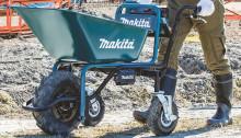Makita lanserar 18V batteridriven skottkärra för enklare hantering av tung last