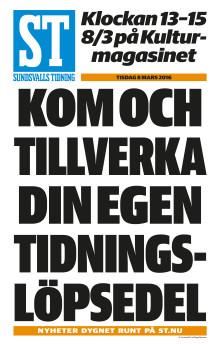 Sportlovslediga barn är välkomna till Barn- och ungdomsbiblioteket i Sundsvall!