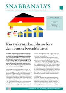 Snabbanalys: Kan tyska marknadshyror lösa den svenska bostadsbristen?