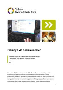 Skånes Livsmedelsakademis rapport - Framsyn via sociala medier