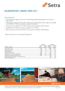 Setra delårsrapport januari-mars 2011