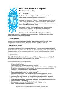 Ford Video Award säännöt