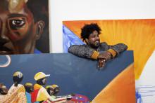 Kunstneren Fadlabi  med slående malerier i ny utstilling: Munchmuseet i bevegelse – Kunsthall Oslo