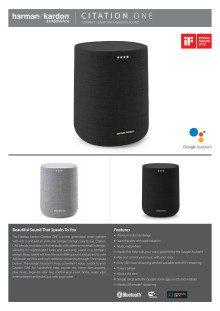 Harman Kardon Citation ONE_Spec sheet