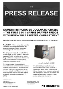 Dometic Introduces CoolMatic CRX65D – the First 3-in-1 Marine Drawer Fridge with Removable Freezer Compartment
