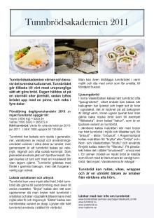 Information om Tunnbrödsakademien