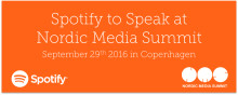 Spotify to speak at Nordic Media Summit in Copenhagen