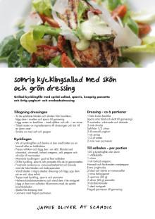 Jamie Oliver - sommarmeny, Sommarsallad med grillad kyckling och green goddess-dressing