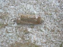 Granat hittad vid grävning i Åhus