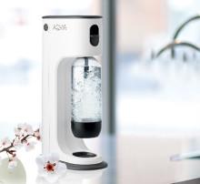 AQVIA Balance danskvandsmaskine – stilren plast med detaljer i softcell