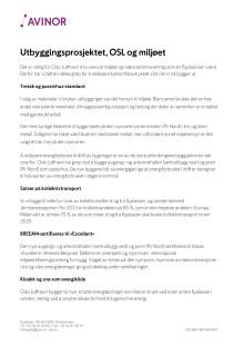 Utbygging ved OSL og miljøet