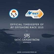 Sjöö Sandström går in som Official Timekeeper under ÅF Offshore Race 2015.